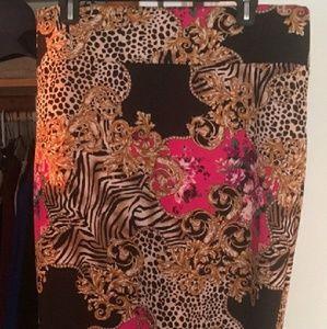XL Thalia Sodi print skirt. Perfect condition.